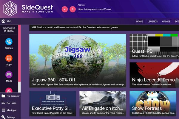 Sideload pro Oculus Quest