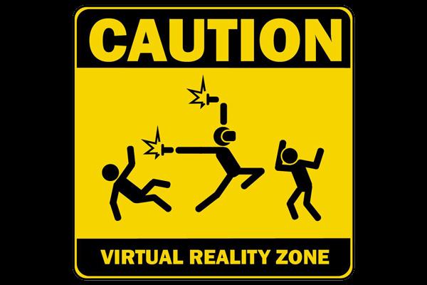 Pozor Zóna Virtuální Reality – cedule pro tisk