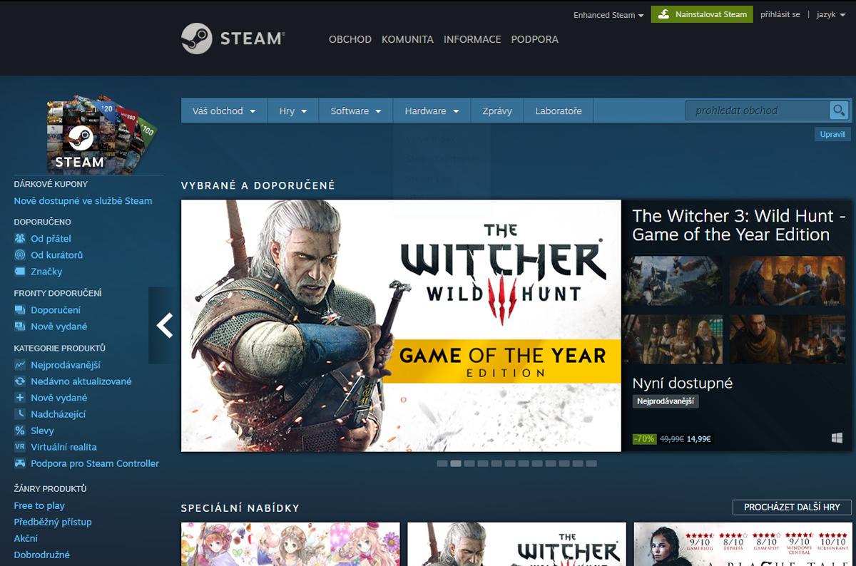 Jak na online herní platformu Steam