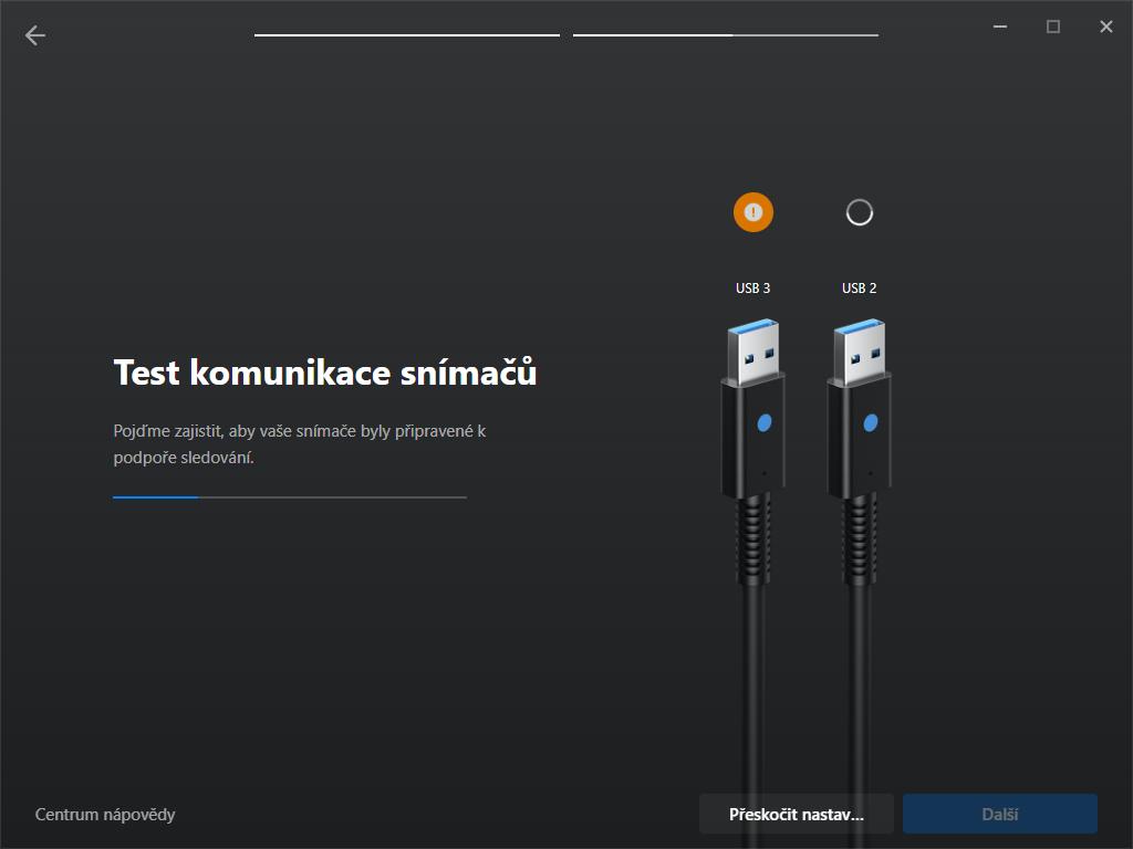 test komunikace snimacu