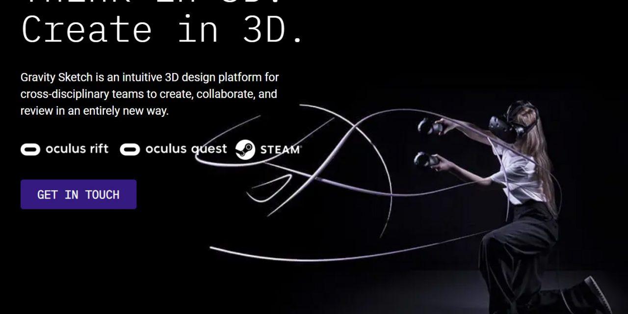 Gravity Sketch je zdarma pro Oculus a SteamVR
